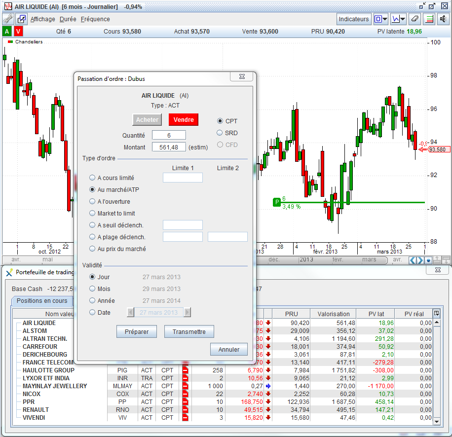 Real time order book forex